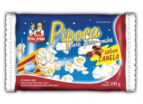 PIPOCA PARA MICRO-ONDAS CANELA 100G