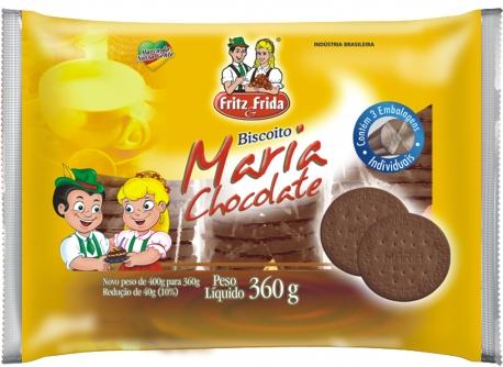 BISCOITO MARIA CHOCOLATE FRITZEFRIDA CX/10X360G